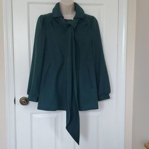 Green peacoat dress winter coat